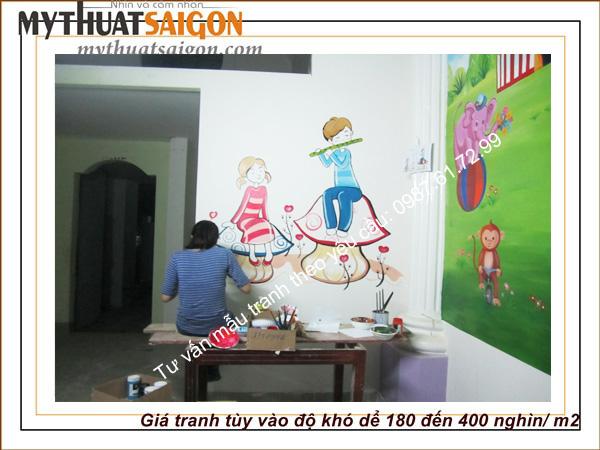 Vẽ tranh tường nhà ở theo nhu cầu