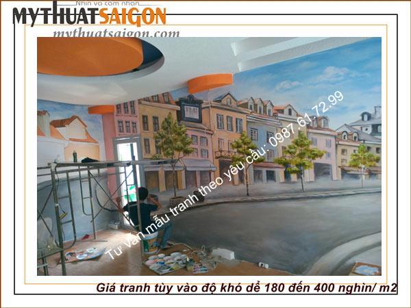 Vẽ tranh tường cafe quận 6