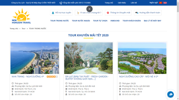 Công ty du lịch Chân Trời Mới liệu đã có một trang web chất lượng?
